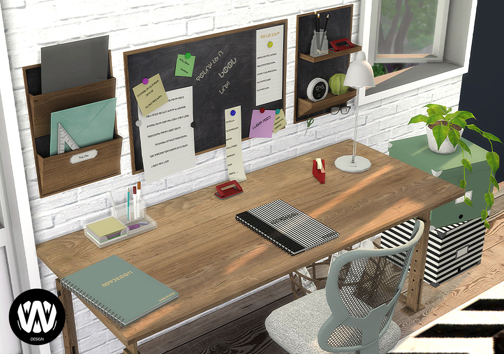Fraxinus Office Decorations Sims 4