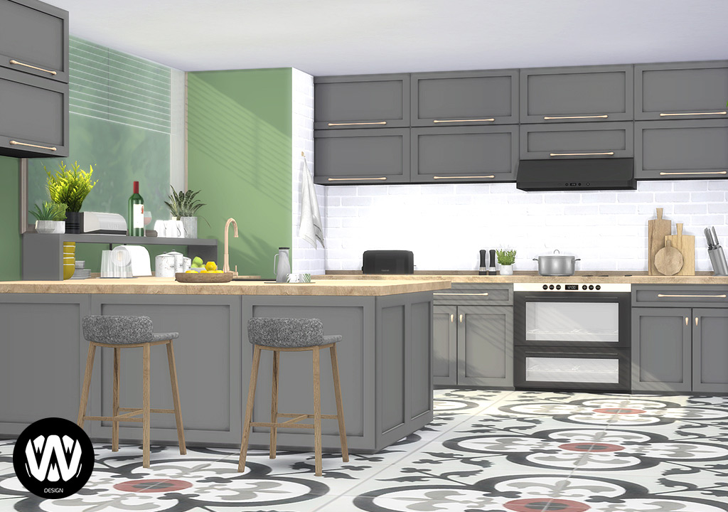 Opuntia Kitchen Sims 4 Custom Content Wondymoon