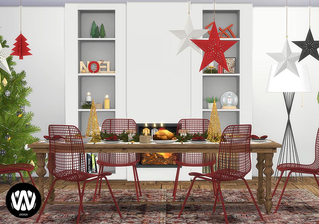Olea Christmas Decorations Sims 4 Custom Content Wondymoon