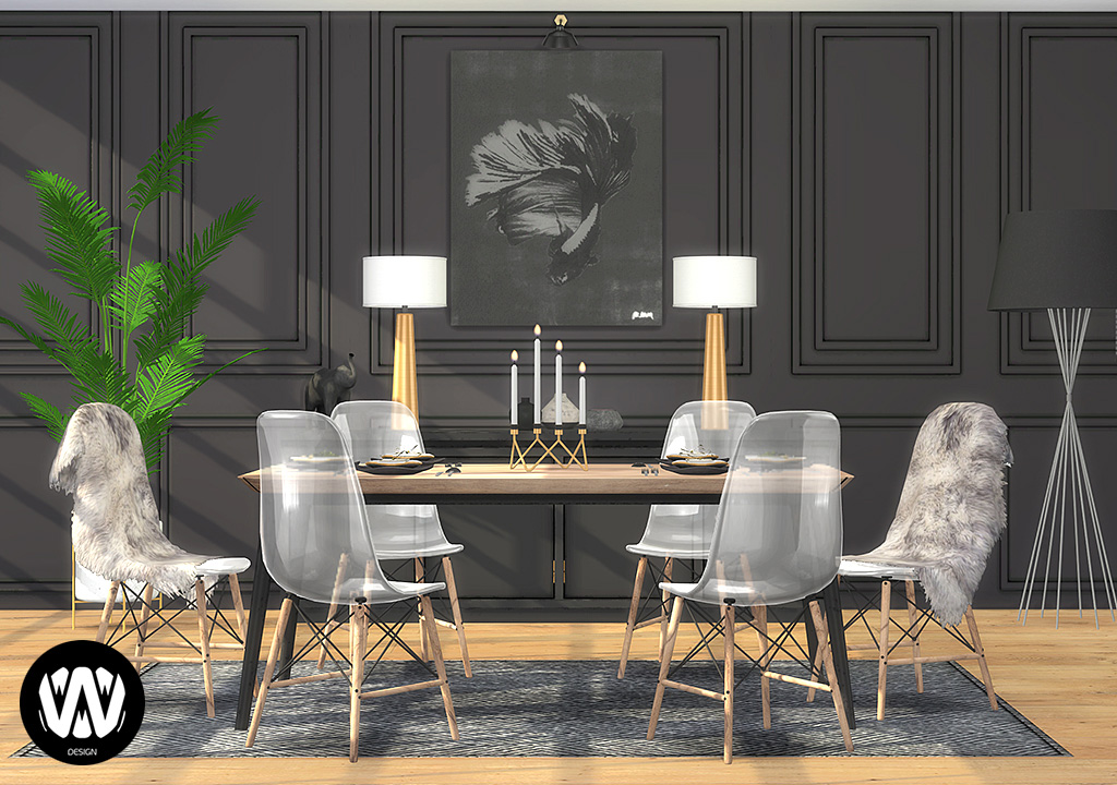Thuja Dining Room Sims 4 Custom Content Wondymoon